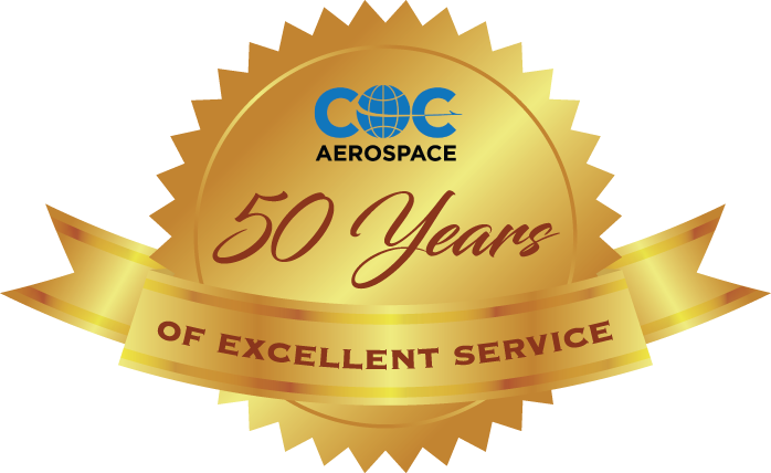 COC Aerospace - 50 Years of Excellent Service
